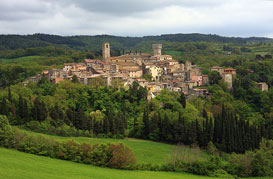 Val di Chiana and its Spa in Tuscany, near Siena